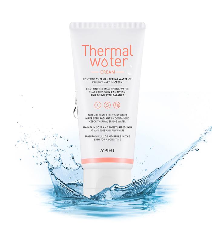 Крем для лица увлажняющий с термальной водой A'PIEU Thermal Water Cream 80мл