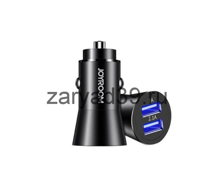 Автомобильное зарядное устройство Joyroom Metal 2USB Z8A