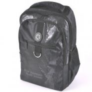 Рюкзак Hatber Basic Style - Black Metal (30х41х15 см), 2 отделения, 3 кармана, полиэстер (арт. NRk_43127)