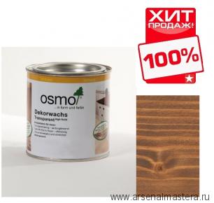 Прозрачная краска на основе цветных масел и воска для внутренних работ Osmo Dekorwachs Transparent Granitgrau 3166 Орех 0,125 л ХИТ!