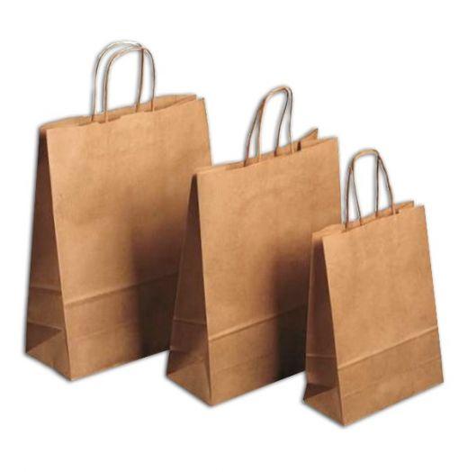 Крафт-пакет с бумажными, кручеными ручками