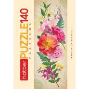 ПАЗЛЫ-ИГРА 140 элементов А4ф 160х450мм Панорама -Цветы для души- (арт. 140ПЗ4_20415)