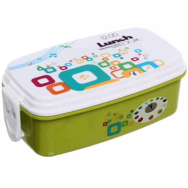 Ланч-Бокс Двойной 0.5 Delicious Lunch, Цвет Зеленый