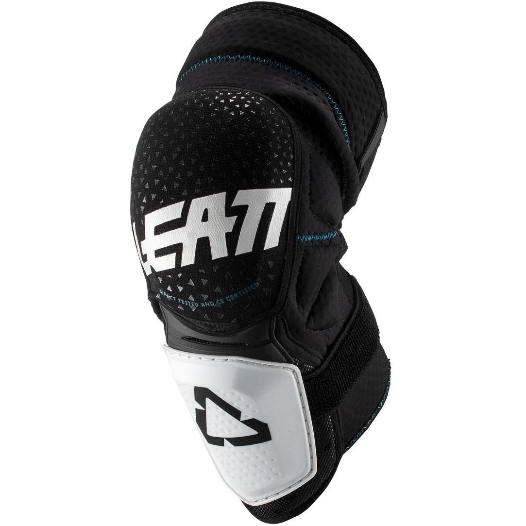 Leatt - 2019 3DF Hybrid Knee & Shin Guard Black/White защита колен, черно-белая