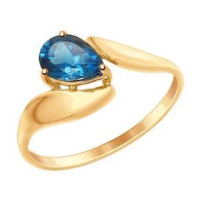 Кольцо из золота с синим топазом 714867 SOKOLOV