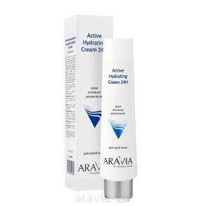 Крем для лица активное увлажнение Active Hydrating Cream 24H, 100мл, ARAVIA Professional