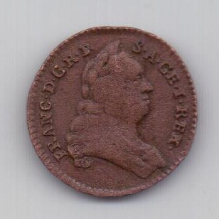 1 пфенниг 1765 года XF Редкий тип Австрия