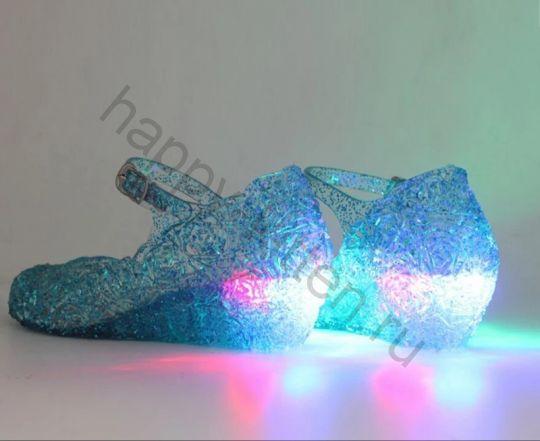 Светящиеся туфли босоножки Эльзы из Холодное сердце