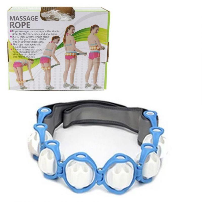 Роликовый Ручной Массажер-Лента Massage Rope HX-8866, Цвет Голубой
