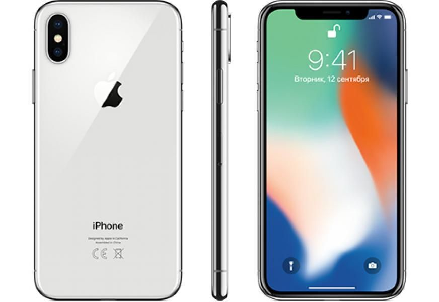 Смартфон Apple iPhone X 64GB Silver (без функции Face ID)