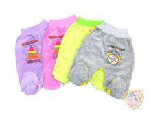"""Велюровые евро-ползунки для новорожденных с широкой резинкой """"Мамин Малыш"""" код 0754 оптом"""