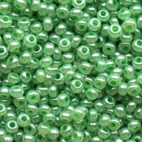 Бисер чешский 37154 светло-зелёный непрозрачный блестящий Preciosa 1 сорт