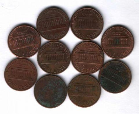 Набор монет США 1937-1994 гг. 10 шт.