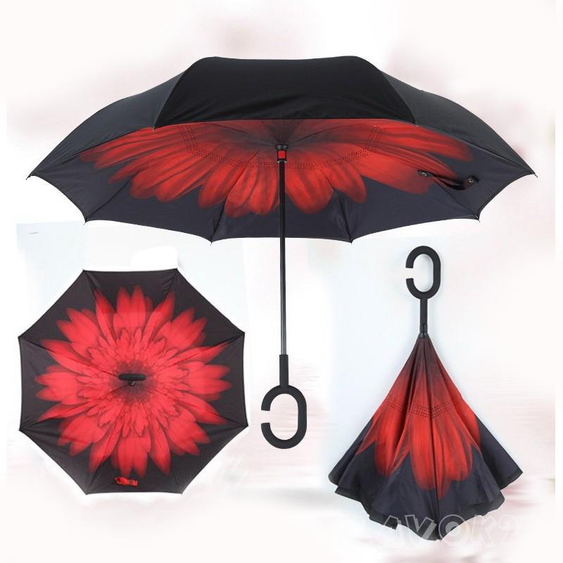 Зонт Наоборот, Красный цветок
