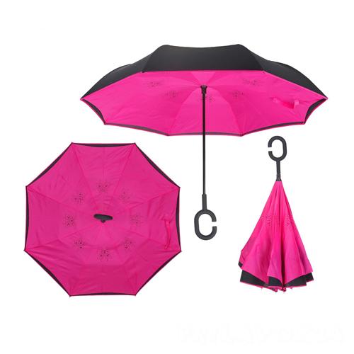 Зонт Наоборот, Розовый однотонный