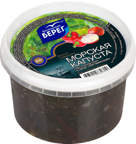 Салат Витаминный из морской капусты 250г Балтийский берег