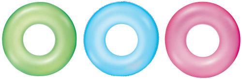 Надувной круг 76 см Неоновый иней, 3 цвета в ассортименте
