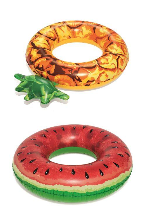 Надувной круг Фрукты 119 см (арбуз, ананас)