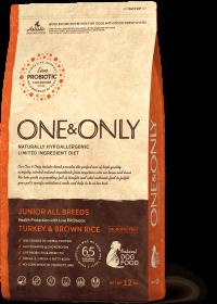 O&O Junior Turkey&Rice 12 кг (индейка с бурым рисом для юниоров)