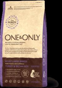 O&O  Large Turkey&Rice 12 кг (индейка с бурым рисом для собак крупных пород)