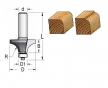 Фреза радиусная с нижним подшипником полуштап 15.9x12.7x48x8 R1.6 WPW RW01605