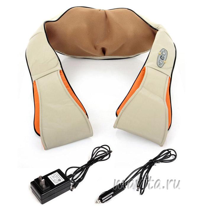 Массажер для шеи плеч и спины с ик-прогревом Massager of neck Kneading