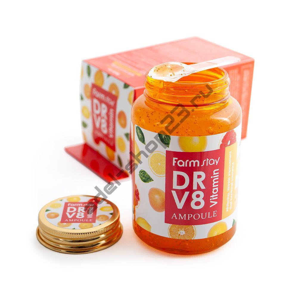 FARMSTAY - Многофункциональная витаминная сыворотка DR.V8 Vitamin Ampoule
