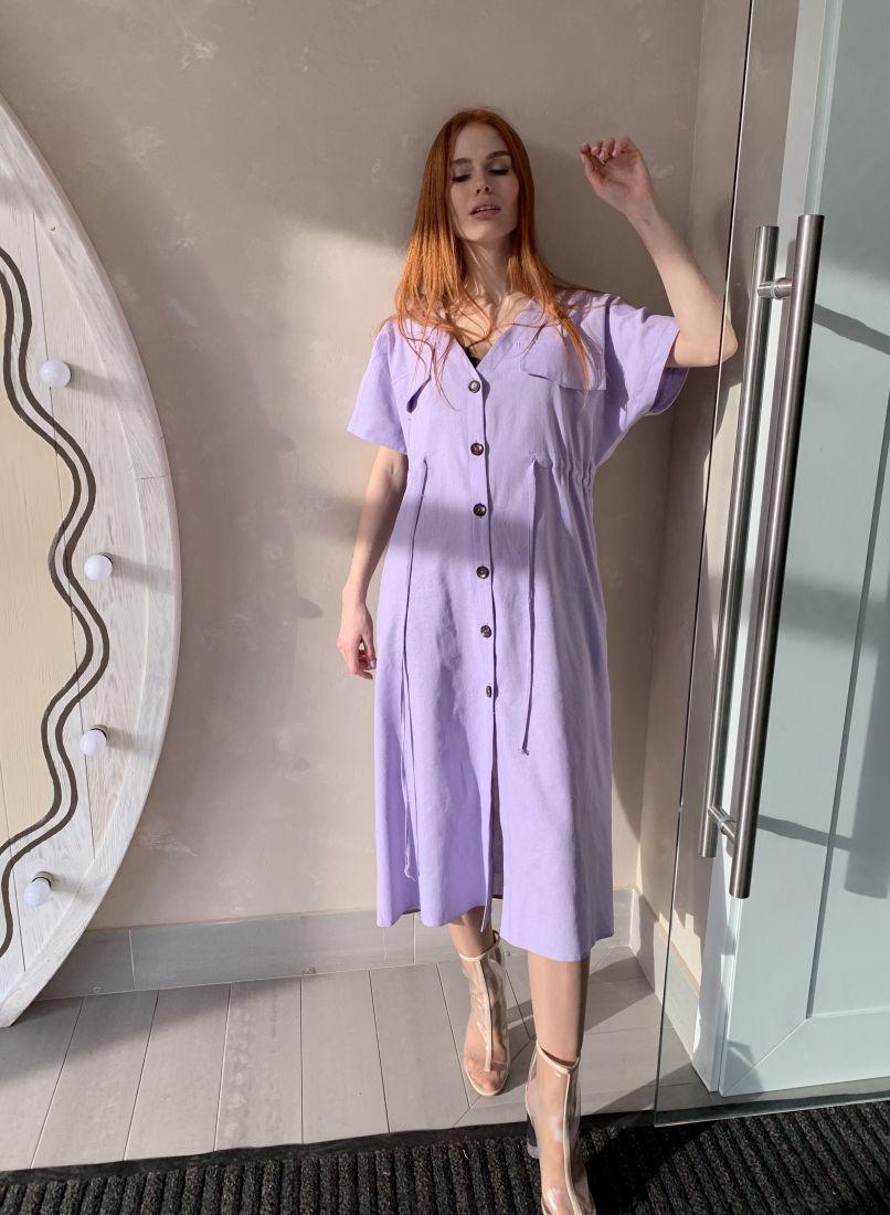 m2040 Льняное платье