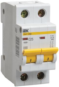 Автоматический выключатель BА 47-29М 2P 8A 4,5кА х-ка B ИЭК