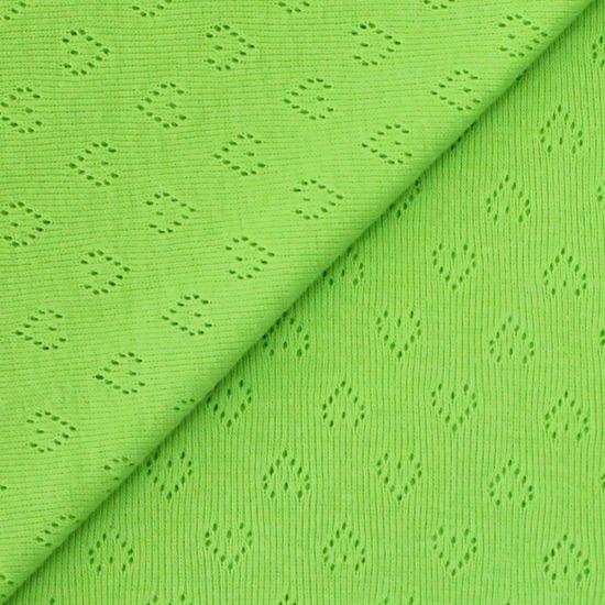 Лоскут трикотажной перфорированной ткани - Зелёный