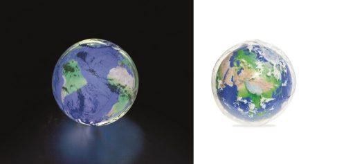 """Мяч """"Земля"""" с подсветкой 61 см"""