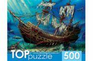 TOPpuzzle. ПАЗЛЫ 500 элементов. ЗАТОНУВШИЙ КОРАБЛЬ (арт. ХТП500-4235)