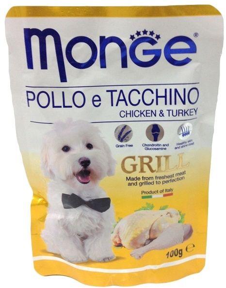 Monge Dog Grill Pouch паучи для собак курица с индейкой 100 гр.