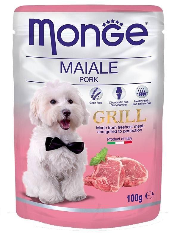 Monge Dog Grill Pouch паучи для собак свинина 100 гр.