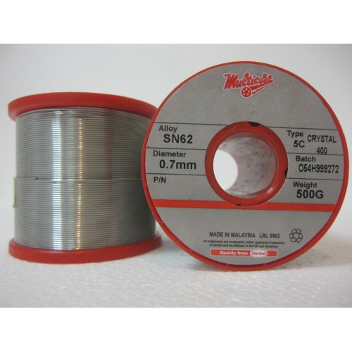 Припой Multicore Crystal 400 SN62 Pb36 Ag2 диаметр 0.7 мм