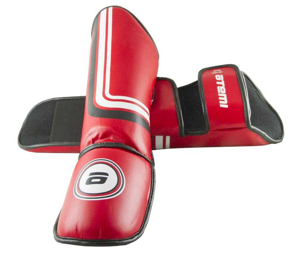 Комплект защиты голени и стопы Atemi LTB-16601 красный