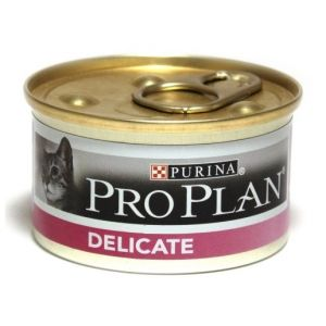 Консервы Pro Plan мусс для взрослых кошек с чувствительным пищеварением с индейкой 85 гр.