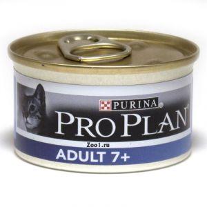Консервы Pro Plan Adult 7+ мусс для кошек старше семи лет с тунцом 85 гр.