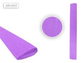 Цветная крепированная бумага СИРЕНЕВЫЙ цвет 50х250 см (арт. AN 1815)