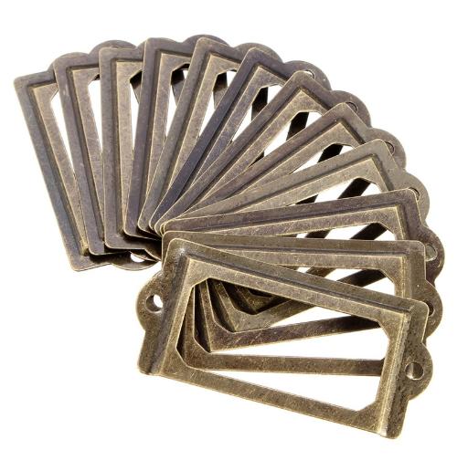 Накладка архивная, 70*33 мм, бронза, 2 шт/упак