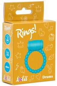 Виброкольцо эрекционное Lola Toys Rings Axle-pin голубое