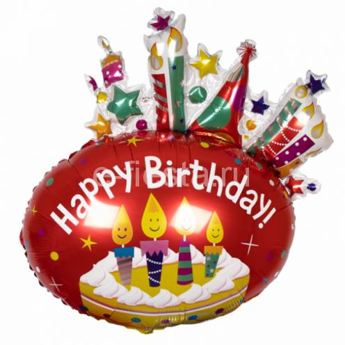 Фигура Торт и свечи С днем рождения