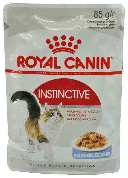 Консервы Royal Canin Instinctive пауч мелкие кусочки в желе для кошек 85 гр.