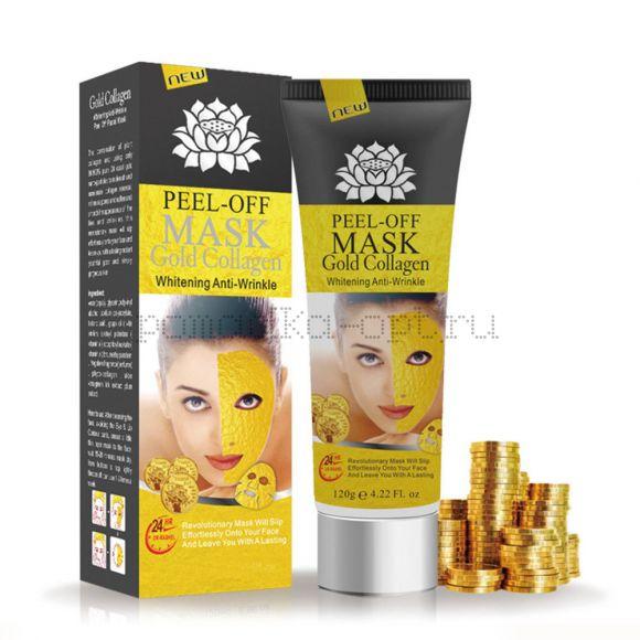 Маска-пленка для кожи лица Y W F Peel-off mask Gold Collagen Whitening Anti-Wrinkle