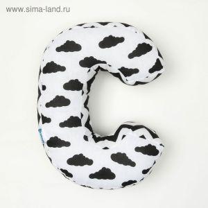 """Мягкая буква подушка """"С"""" 35х26 см, белый, 100% хлопок, холлофайбер   3293875"""