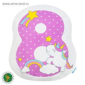 Подушка Крошка Я «8», 40 ? 36 см, цвет фиолетовый, велюр, 100 % п/э