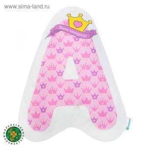 """Подушка """"Крошка Я"""" А, 44х36 см, розовый, велюр, 100% п/э   4125416"""
