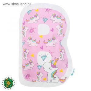 "Подушка ""Крошка Я"" В, 41х34 см, розовый, велюр, 100% п/э   4125419"
