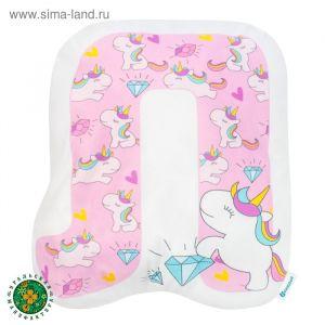 """Подушка """"Крошка Я"""" Л, 41х41 см, розовый, велюр, 100% п/э   4125423"""