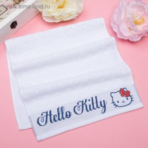 Полотенце детское Hello Kitty 70х130 см, цвет белый 100% хлопок, 400 г/м?